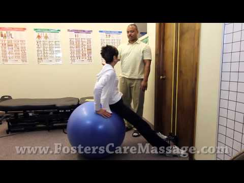 Hip Flexors and Lower Back Stretches Using an Exercise Ball