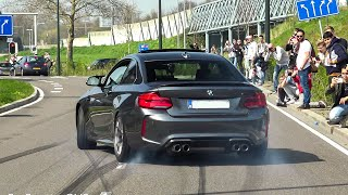 LOUD SUPERCARS ACCELERATING, BURNOUTS! M5 E60 V10, M2's, C63S, Aventadors, RS6 ABT, Shelby..