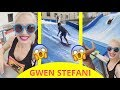 Gwen Stefani surfing with her family !