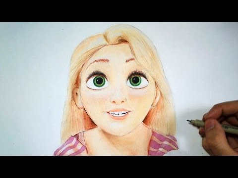 Comment dessiner raiponce tutoriel youtube - Dessiner disney ...