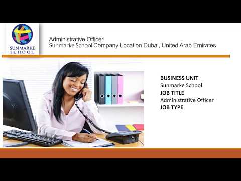Administrative Officer job vacancy in Dubai