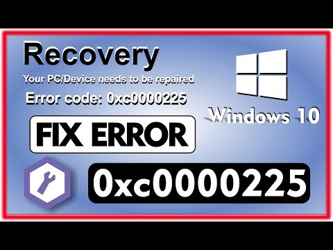 Simple Fix Error 0xc0000225 in One Minute! - How to Fix Error Code 0xc0000225  in 1 minute!