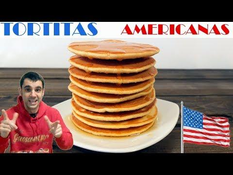 Tortitas americanas, receta fácil y rápida.