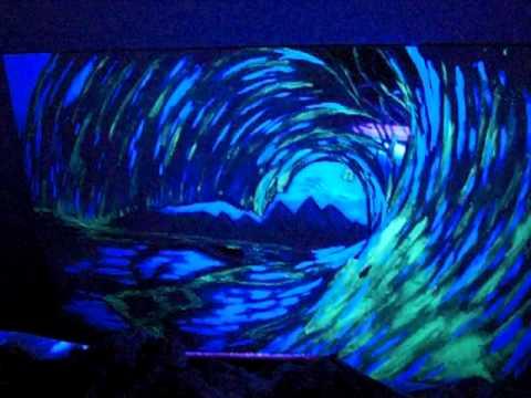 blacklight ocean art youtube
