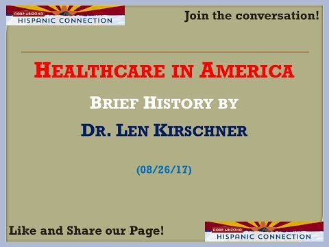 HEALTHCARE IN AMERICA - BRIEF HISTORY BY DR. KIRSCHNER