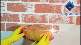 губка Лофт! Кирпич при помощи губки. Самый простой простой способ декора стен под кирпич