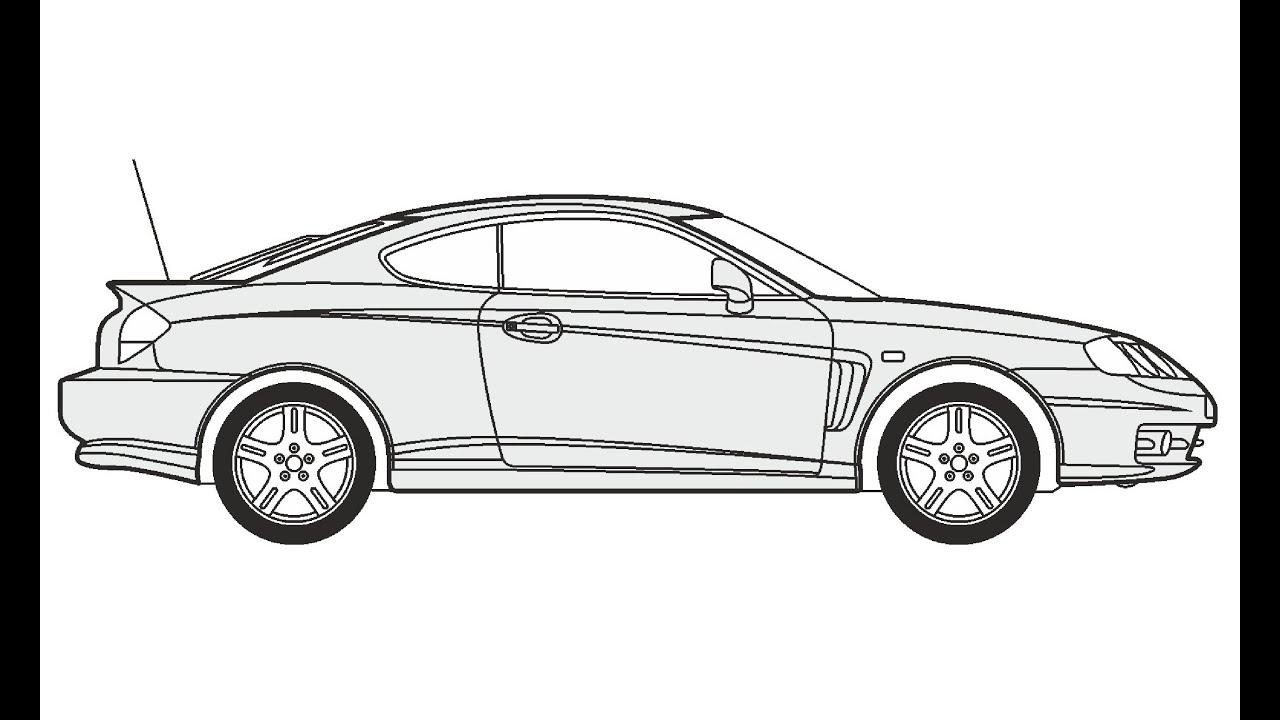 how to draw a hyundai coupe     u041a u0430 u043a  u043d u0430 u0440 u0438 u0441 u043e u0432 u0430 u0442 u044c hyundai coupe