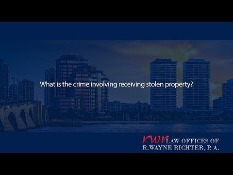 What is the crime involving receiving stolen property?