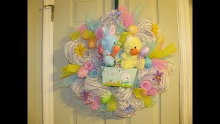 How To Make Carmen's Easter Bunny And Duck Easter Basket Wreath