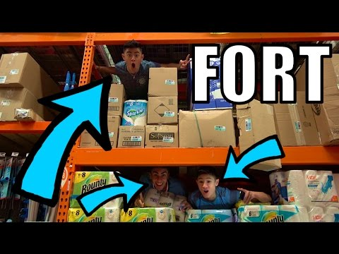 TRIPLE DECKER!! TOILET PAPER FORT IN RAFTERS!!