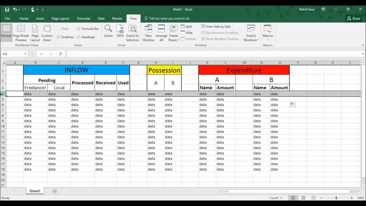 Solved!] - MS Excel - Freeze Pane freezes too many rows - freezes ...
