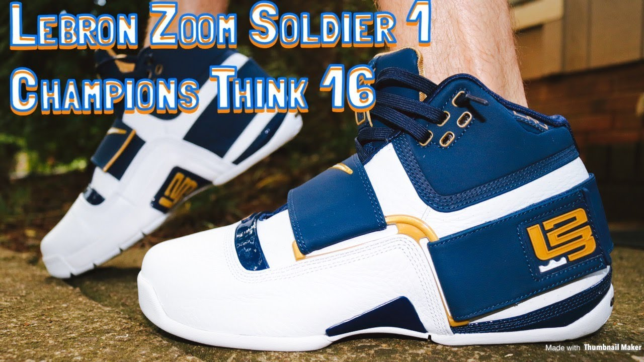 c5dceb5c9826 Nike Lebron Zoom Soldier 1 Champions Think 16 25 Straight Review   On   Off  Feet Looks