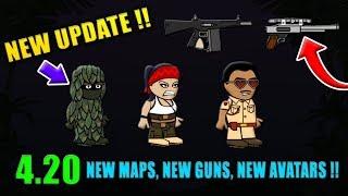 Mini Militia NEW UPDATE 4.2.0 - NEW GUNS + NEW MAPS + NEW AVATARS | Doodle Army 2: Mini Militia #127