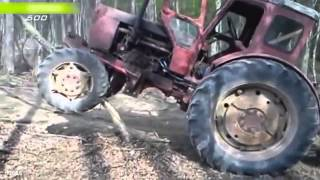 Crazy Russian tractor drivers