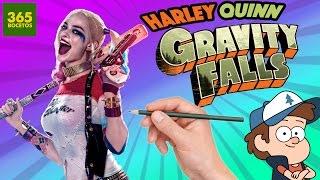 Comment Dessiner Harley Quinn Le Style Gravity Falls étape Par étape