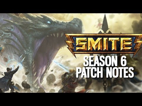 SEASON 6 SMITE FULL PATCH NOTES! GOODBYE BOOTS!