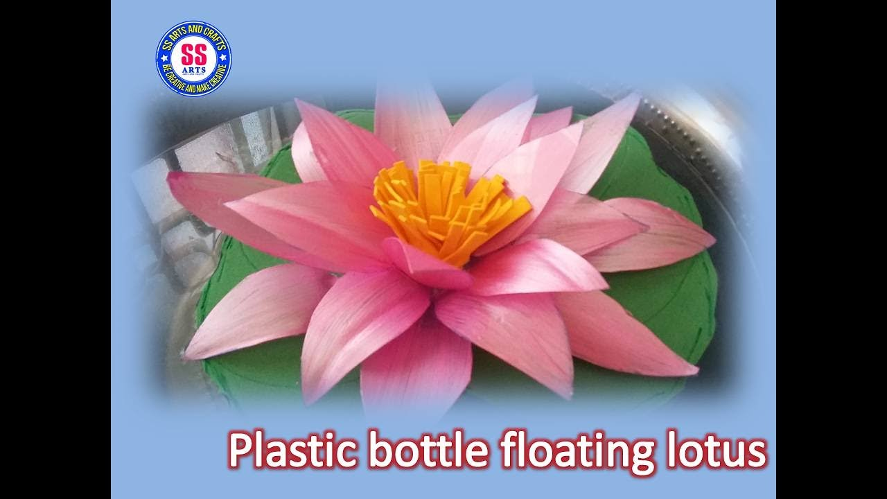 Diy best out of the waste plastic bottle turned in to a diy best out of the waste plastic bottle turned in to a floating lotus flower mightylinksfo