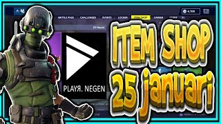 | FORTNITE NL/BE | ITEM SHOP 25 January 2019 | * NEW * TECH OPS skin!! | Playr Nine (English)