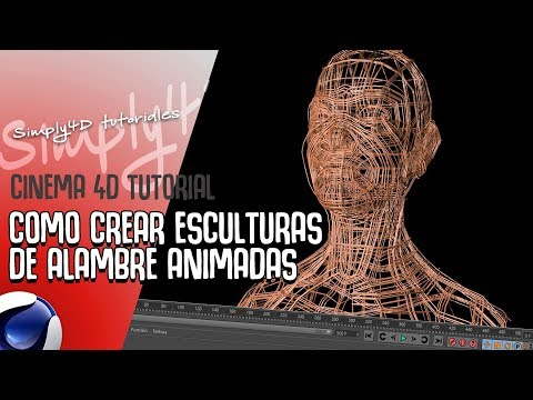 COMO HACER ESCULTURAS DE ALAMBRE EN  CINEMA 4D