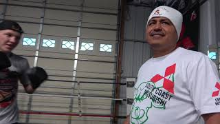 Bfly Working Mitts With Robert Garcia What Did He Tell Robert? EsNews Boxing