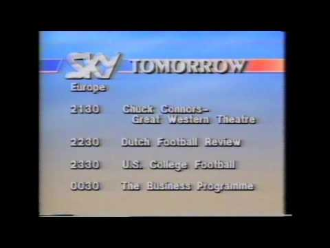 Sky Channel Tomorrow 1988