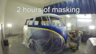 191966 vw bus, body work and paint. house of color and matrix, time lapse