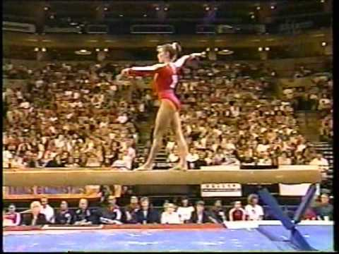 Shannon Miller Balance Beam  2000 US Olympic Trials Day 1