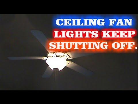 Ceiling Fan Light Flickering And Making Noise Shelly Lighting