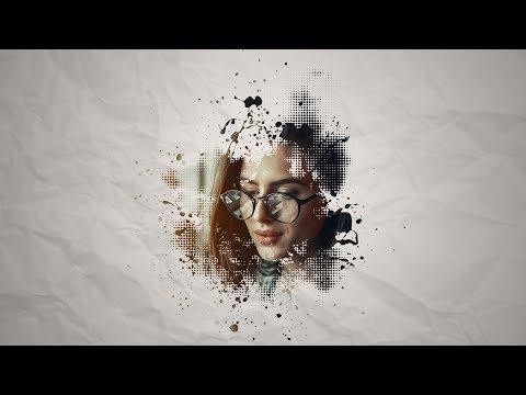 Free Download Brush Effect Portrait Template | Photoshop Cc Tutorial
