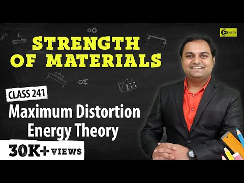 Maximum Distortion Energy Theory - Theories of Elastic Failure - Strength of Materials