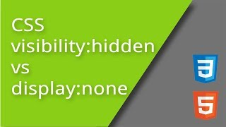 CSS display none vs visibility hidden