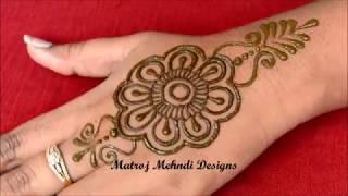 Simple Arabic Henna Mehndi Designs For hands|Latest Arabic Henna Mehndi Designs