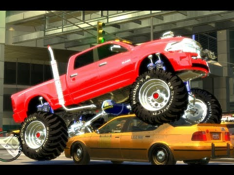 gta4 big monster truck amazing to watch youtube. Black Bedroom Furniture Sets. Home Design Ideas
