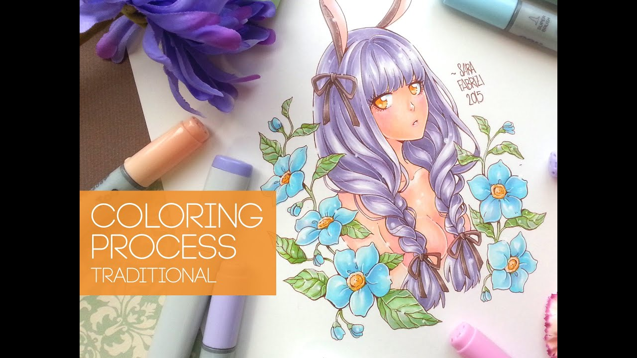 ☆ [Bunny Girl] - COPIC COLORING - YouTube
