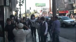 KISSONLINE EXCLUSIVE: KISS walks down Hollywood Boulevard