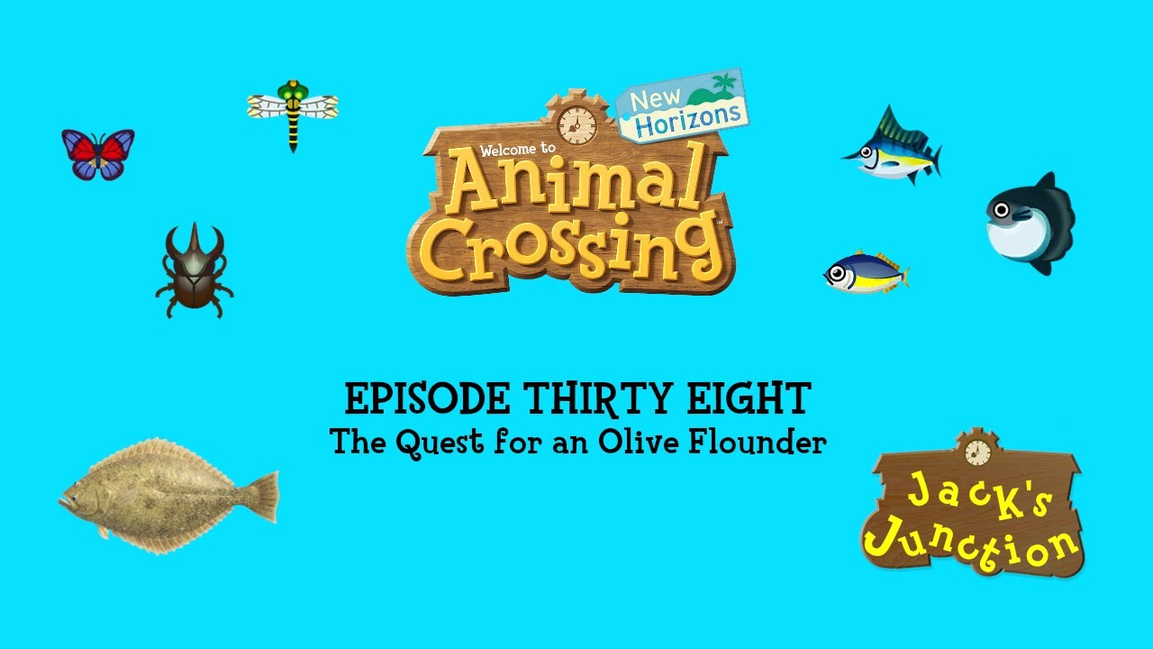 Jack S Junction Animal Crossing New Horizons Let S Play Episode 38 Quest For An Olive Flounder Youtube Welcome to the first active animal crossing: youtube