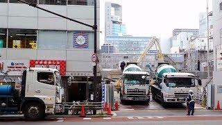 11/18UP 大阪梅田で生コンの圧送作業!スクイーズ式コンクリートポンプ車 thumbnail