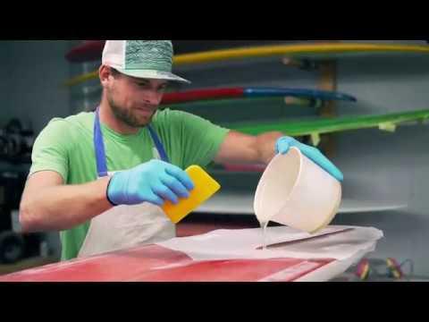 Deke Wilson Surfboard Glassing @dekewilson_boards