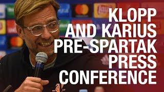 Jürgen Klopp and Loris Karius | LFC's pre-Spartak Moscow press conference