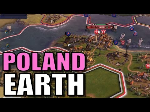 Civ 6: Poland Gameplay [True Start Earth Location Map] Let's Play Civilization 6 Poland | Part 7