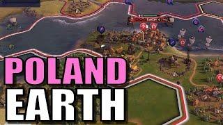 Civ 6: Poland Gameplay [True Start Earth Location Map] Let's Play Civilization 6 Poland | Part 7