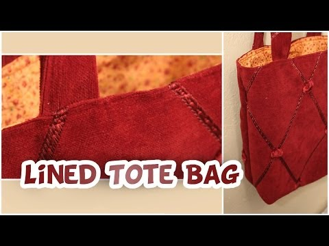 Basic Lined Tote Bag | How to EASY - Whitney Sews