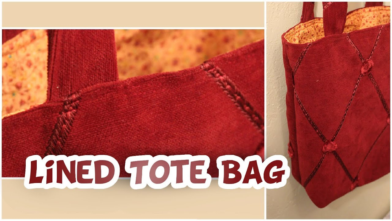 Basic Lined Tote Bag | How to EASY - Whitney Sews - YouTube