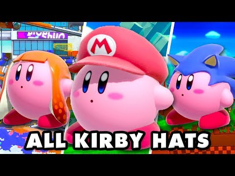 Super Smash Bros Ultimate - All Kirby Hats and Special Attacks
