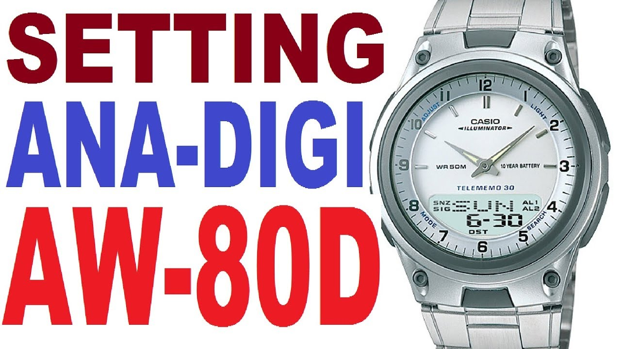 Casio AW-80D manual 2747 - Correct guide - YouTube 7a78ada8685