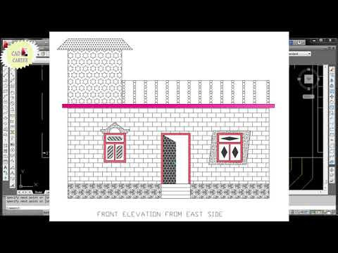 How to Draw window In 2D drawing Plan in Autocad | Window projection in 2D drawing | create window