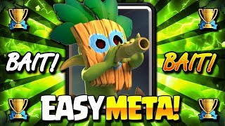#1 BAIT DECK DOMINATING CLASH ROYALE!! EASY TROPHY DECK!!