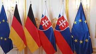 Peter Pellegrini sa stretáva s nemeckou kancelárkou