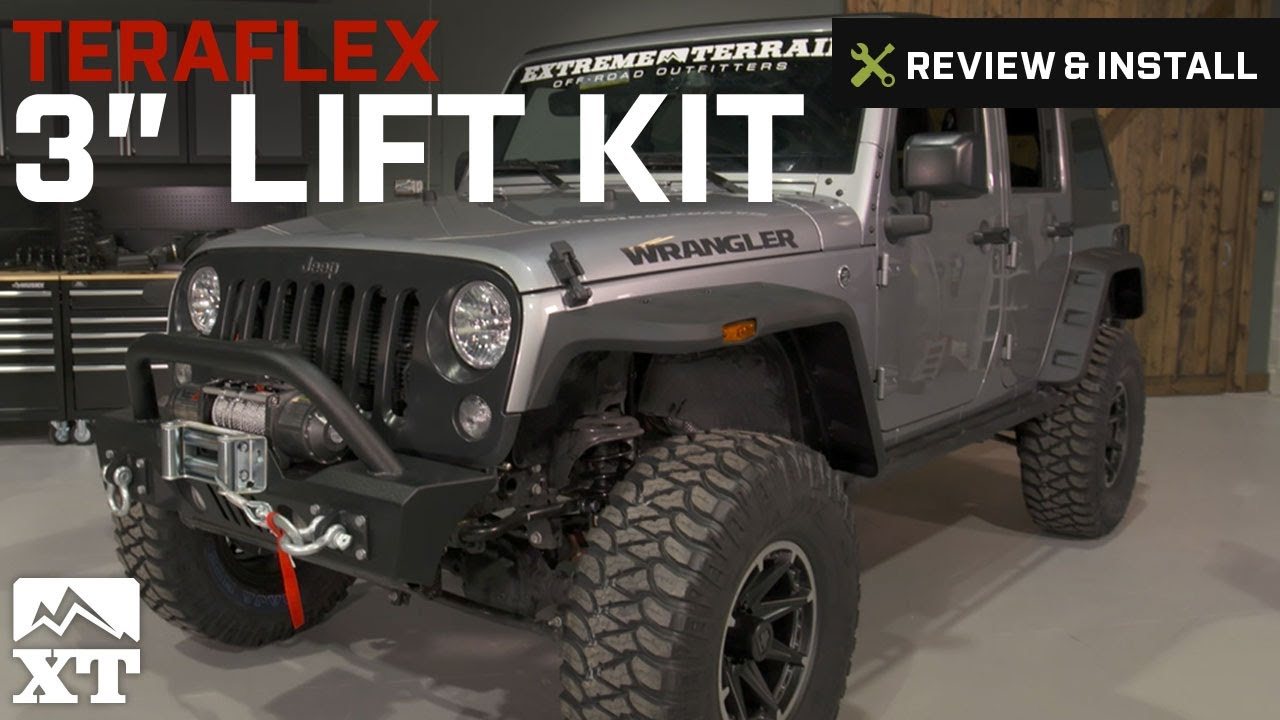 Jeep Lift Kits >> Jeep Wrangler Teraflex 3 Lift Kit 2007 2016 Jk 4 Or 2 Door Review Install