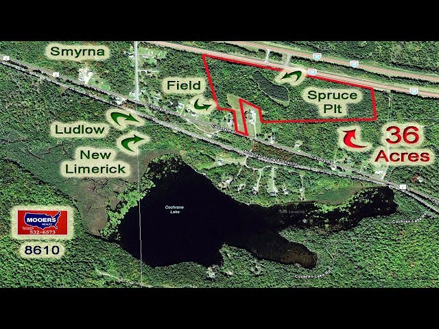 Real Estate Video | 36 Acres Of Maine Land | MOOERS REALTY